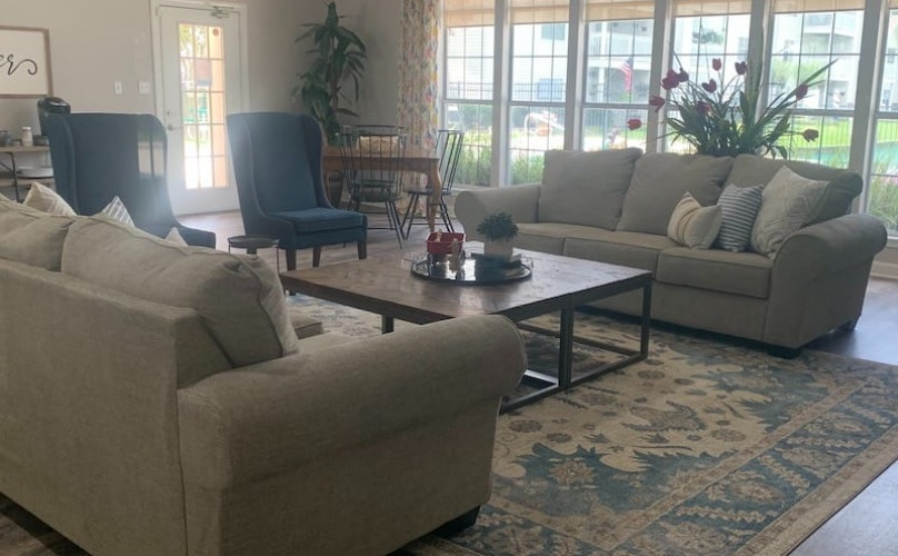 property lobby with couches and open spaces
